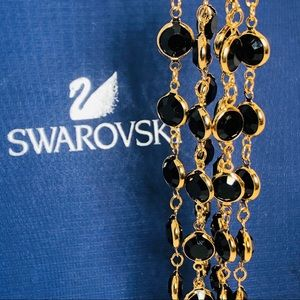 ** Swarovski Black Bezel necklace